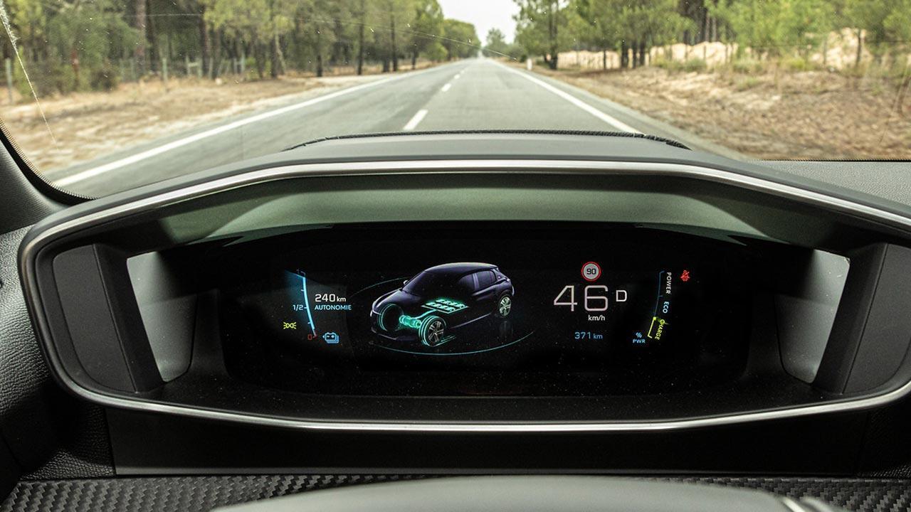 Peugeot e208 - digitale Anzeigen