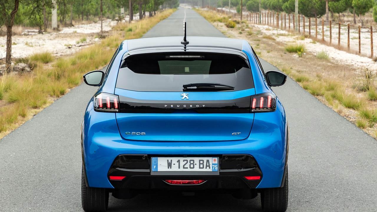 Peugeot e208 - Heckansicht