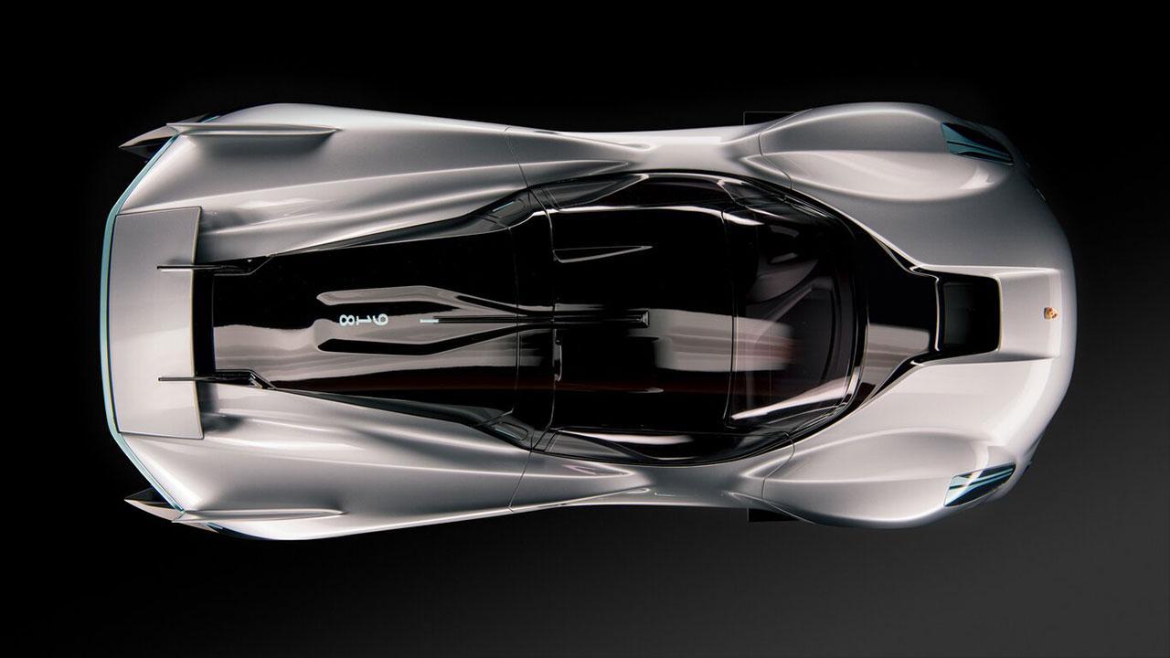 Porsche Vision 918 RS - Vogelperspektive