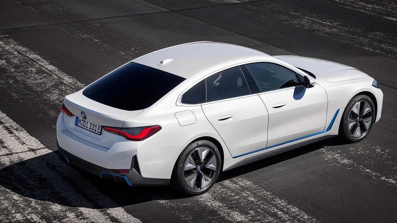 Der BMW i4 - Vogelansicht