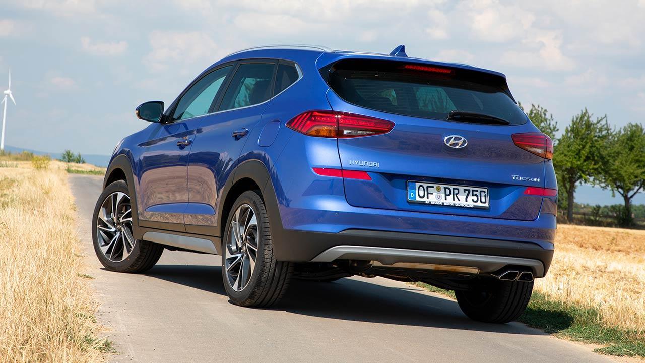 Hyundai Tucson- seitliche Heckansicht