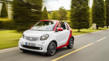 Smart Fortwo Cabrio - in voller Geschwindigkeit
