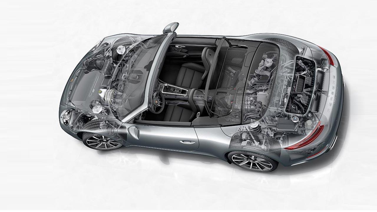 Porsche 911 Carrera  - Phantomzeichnung