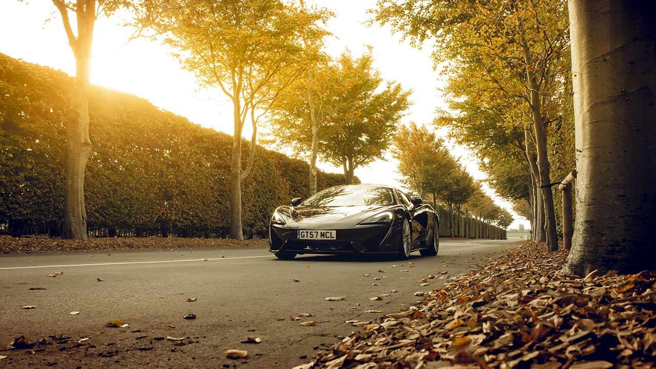 McLaren 570GT - in herbstlicher Allee