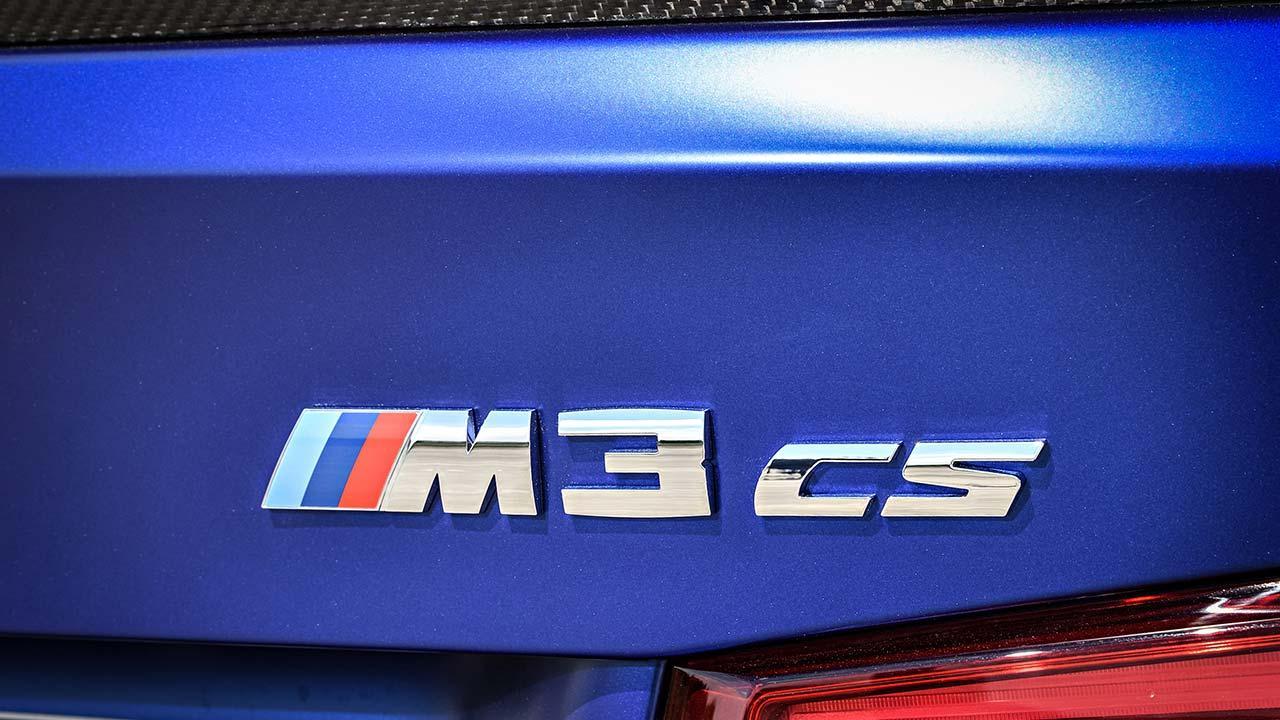 BMW M3 CS - Schriftzug