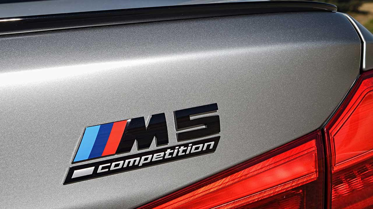 BMW M5 Competition - Schriftzug