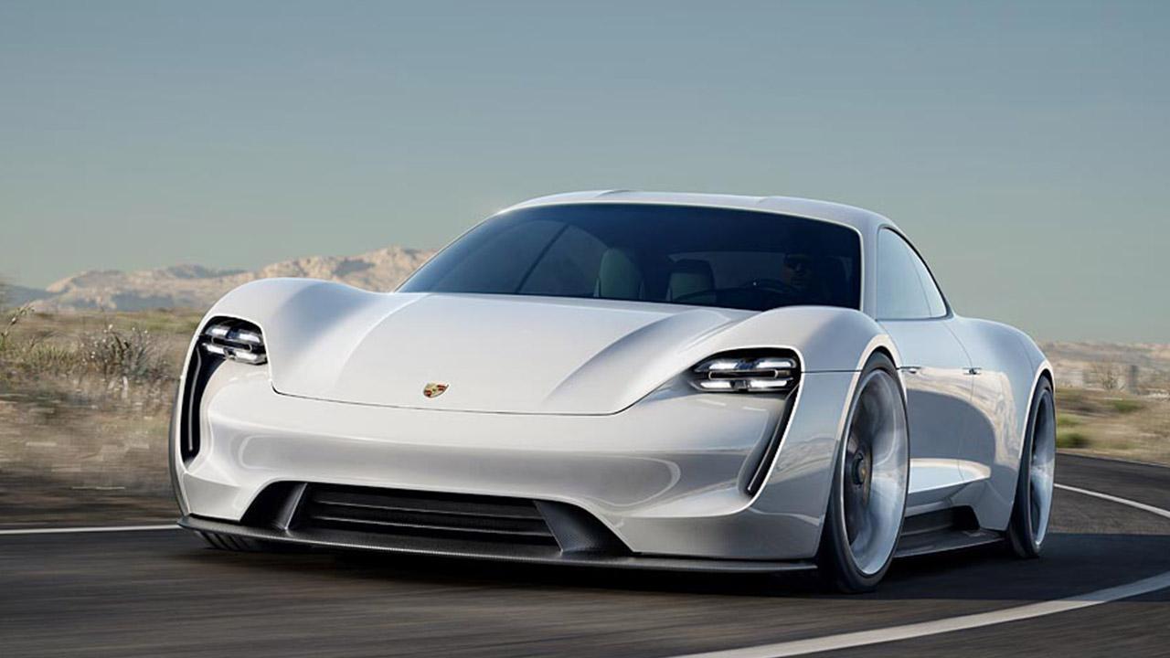 Porsche Taycan Misson E -  Frontansicht