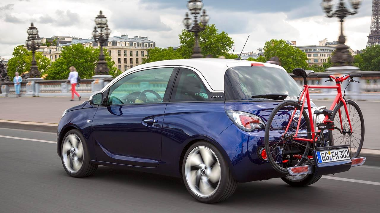 Opel Adam - mit Fahrradträger
