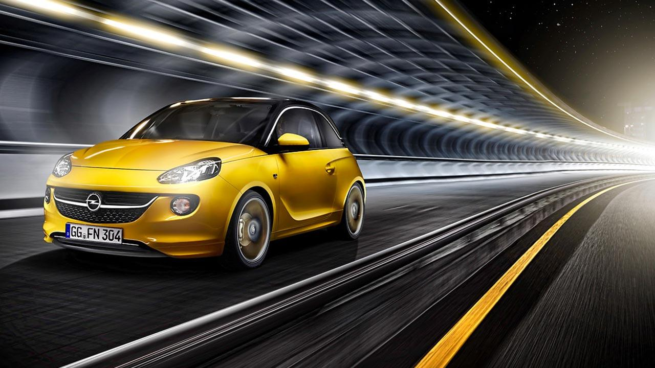 Opel Adam - in voller Fahrt