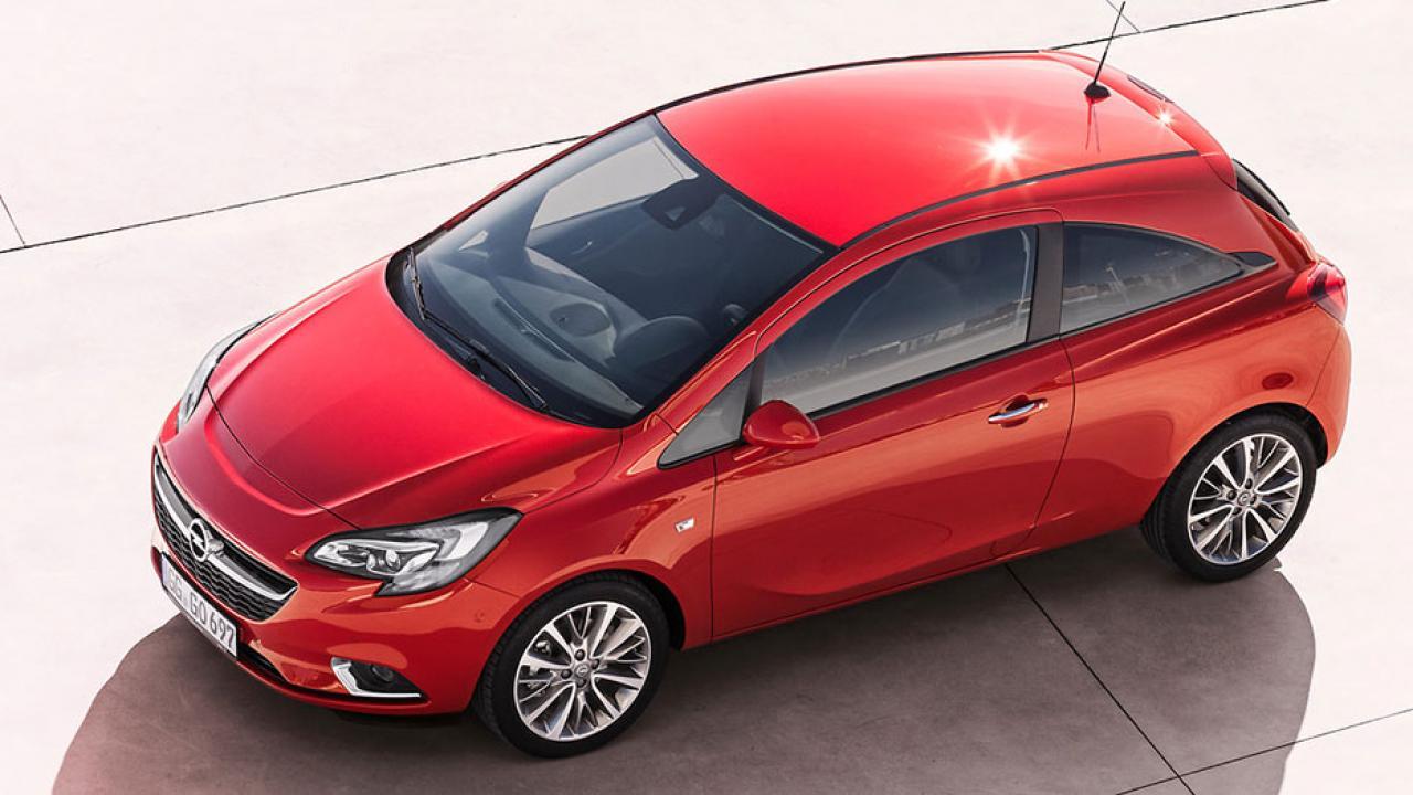 Opel Corsa - aus der Vogelperspektive
