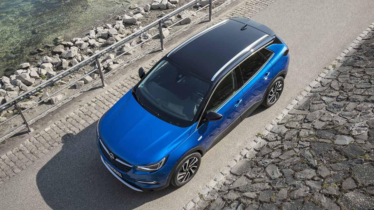 Opel Grandland X - Vogelperspektive