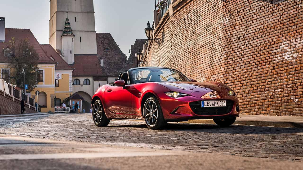 Mazda MX-5 in voller Fahrt