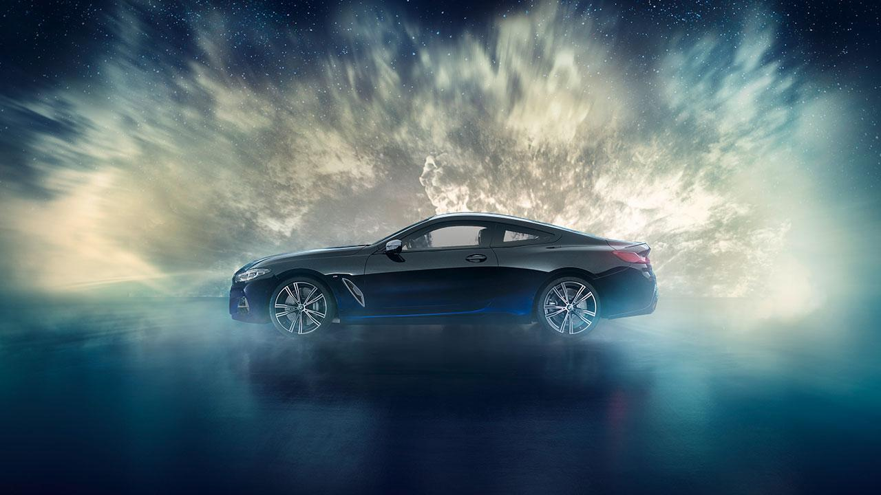 BMW M850i xDrive Coupé Night Sky - Seitenansicht