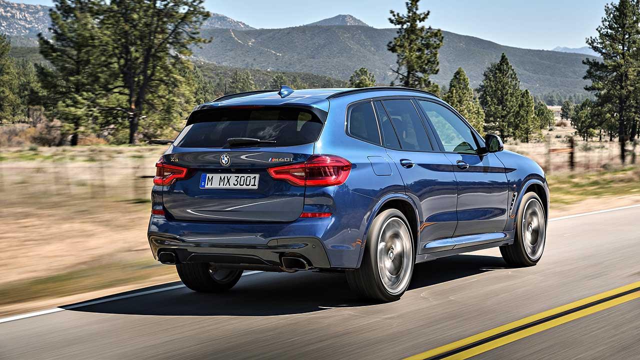 BMW X3 2017 - Heckansicht