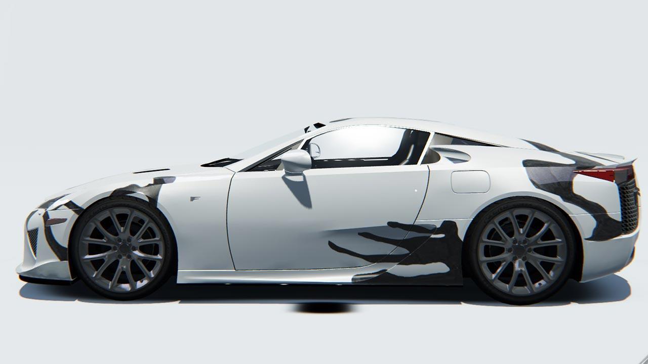 Lexus LFA - Seitenansicht
