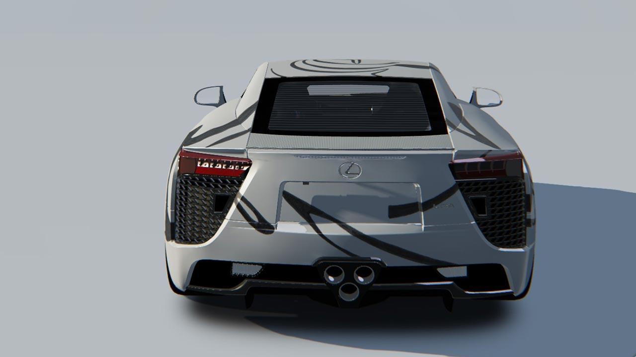 Lexus LFA - Heckansicht