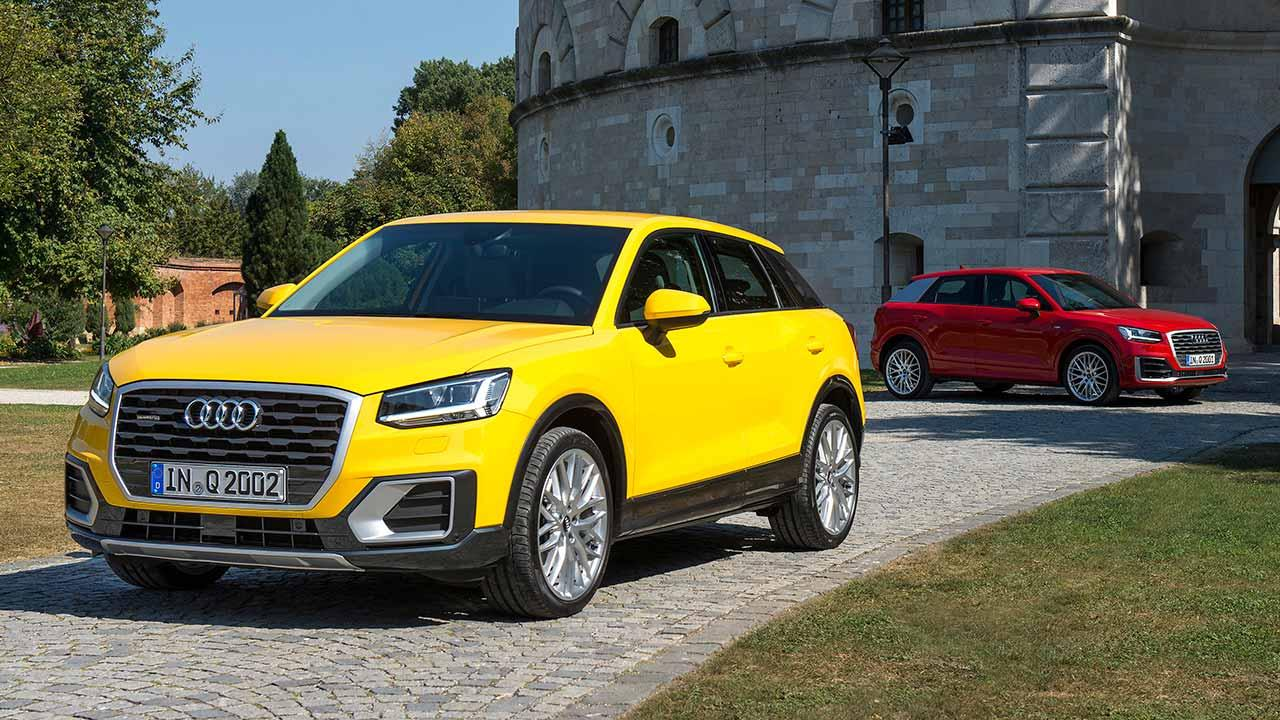 Audi Q2 - in gelb