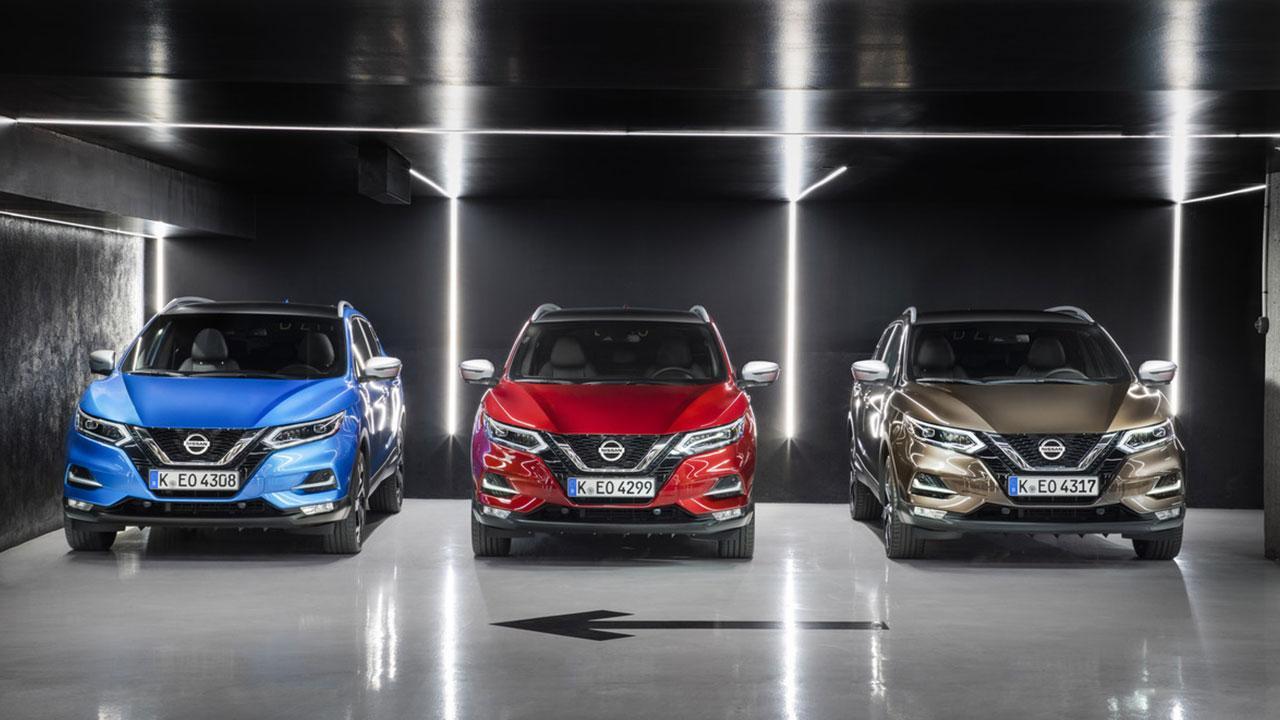 Nissan Qashqai - 3 Farben