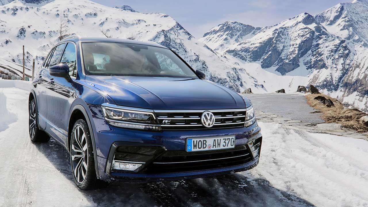 Volkswagen Tiguan - in voller Fahrt