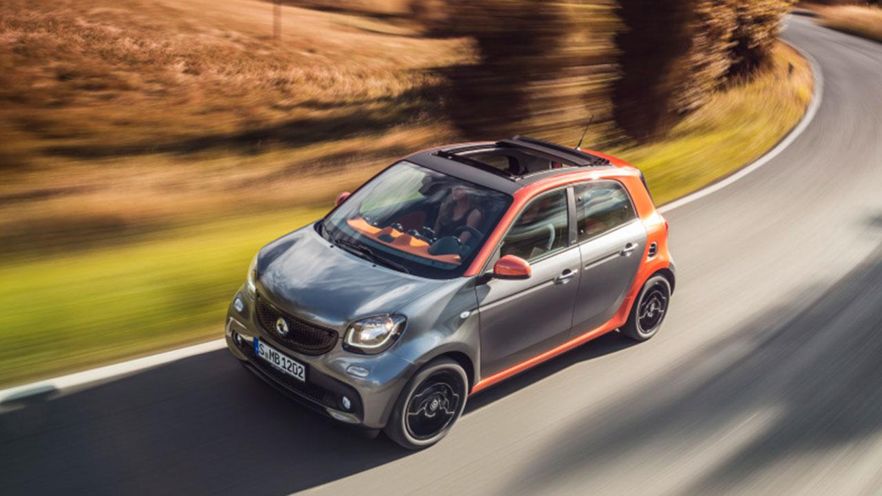 Smart Forfour - in voller Fahrt