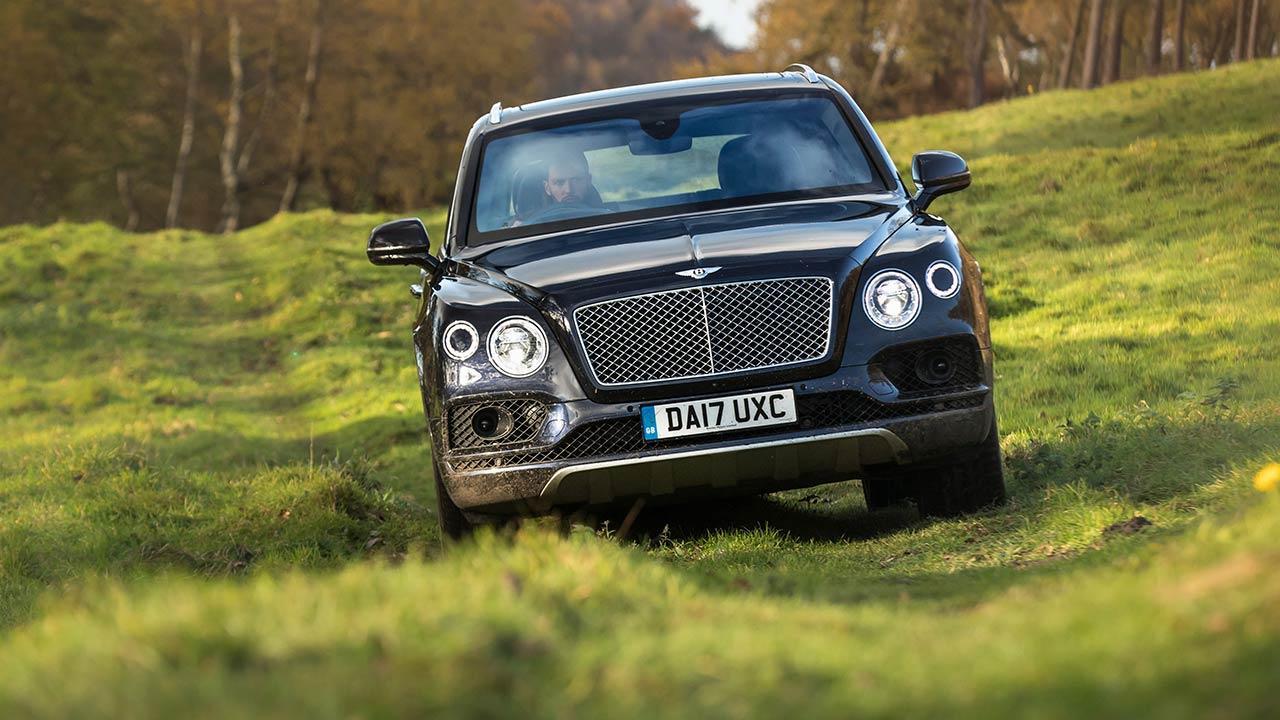 Bentley Bentayga Mulliner - im Wald