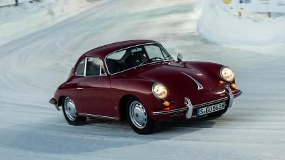 Porsche 356 B - in voller Fahrt