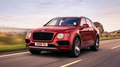 Bentley Bentayga V8 - in voller Fahrt