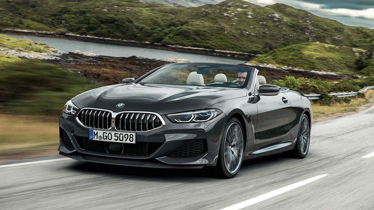 BMW 8er Cabriolet - in voller Fahrt
