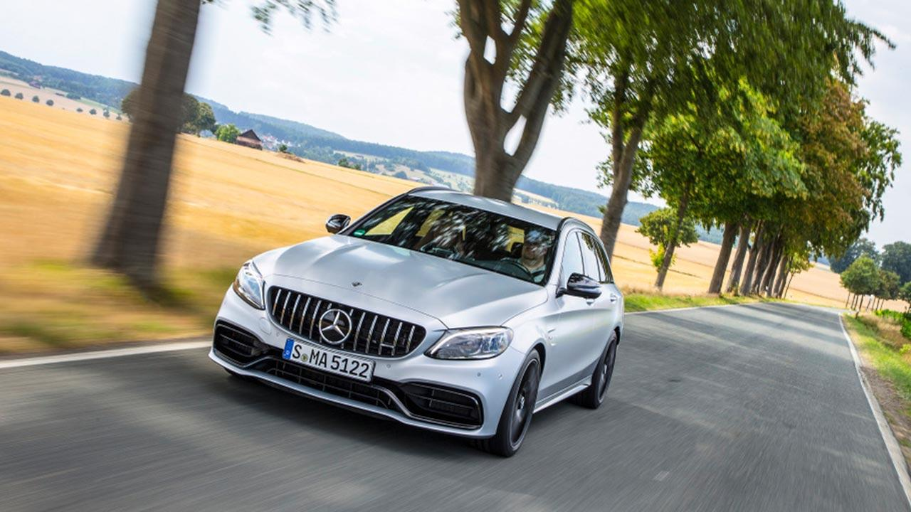 Mercedes-AMG C 63 T-Modell - in voller Fahrt