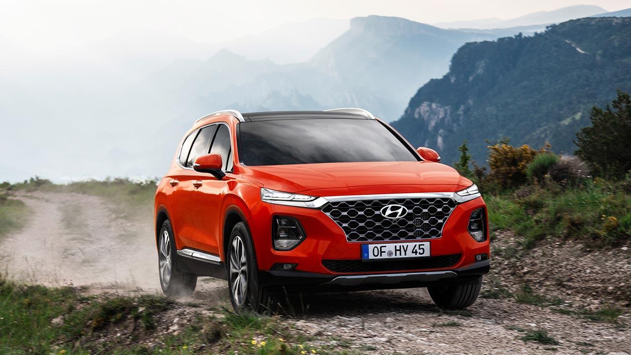 Hyundai Santa Fe - in voller Fahrt