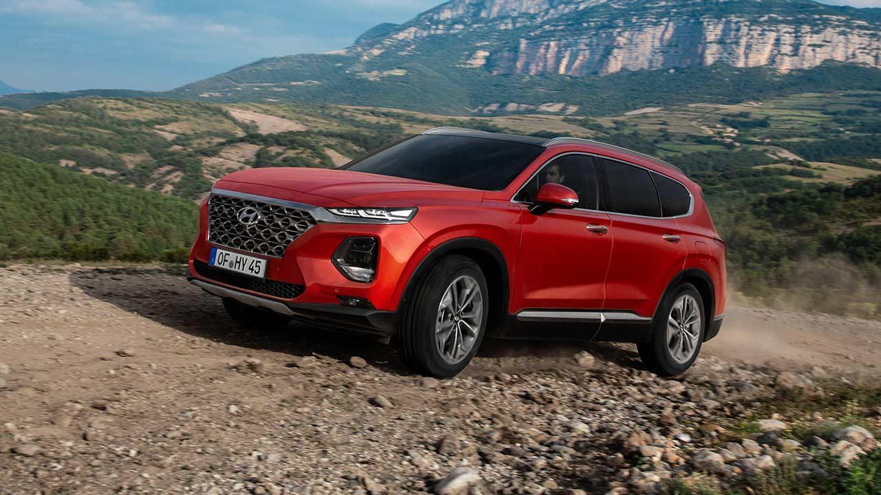 Hyundai Santa Fe - auf der Bergstraße