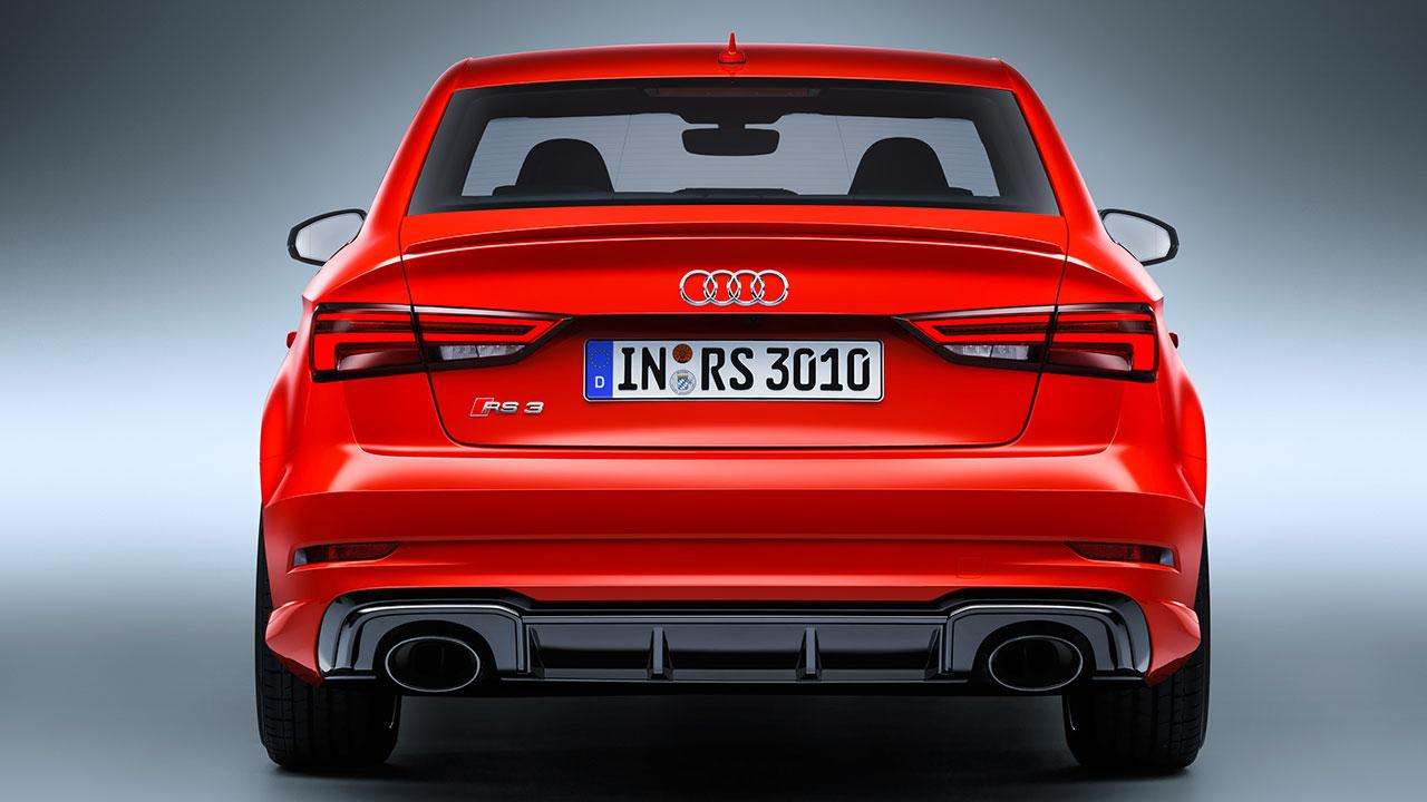 Audi RS 3 Limousine 2017 - Heckansicht