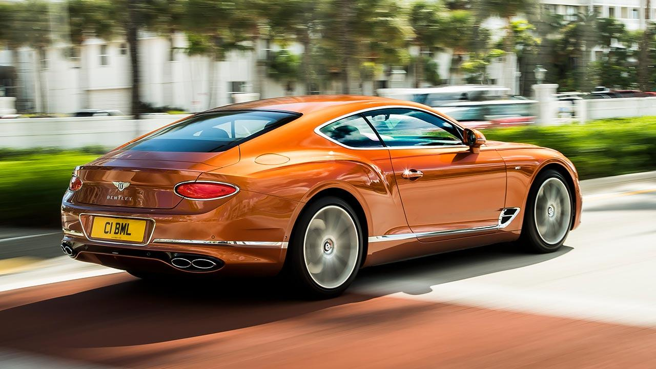 Bentley NEW Continental GT V8 - Heckansicht
