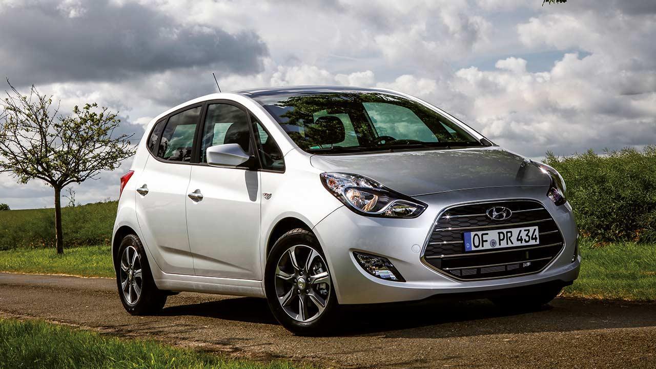 Hyundai ix20 - seitliche Frontansicht