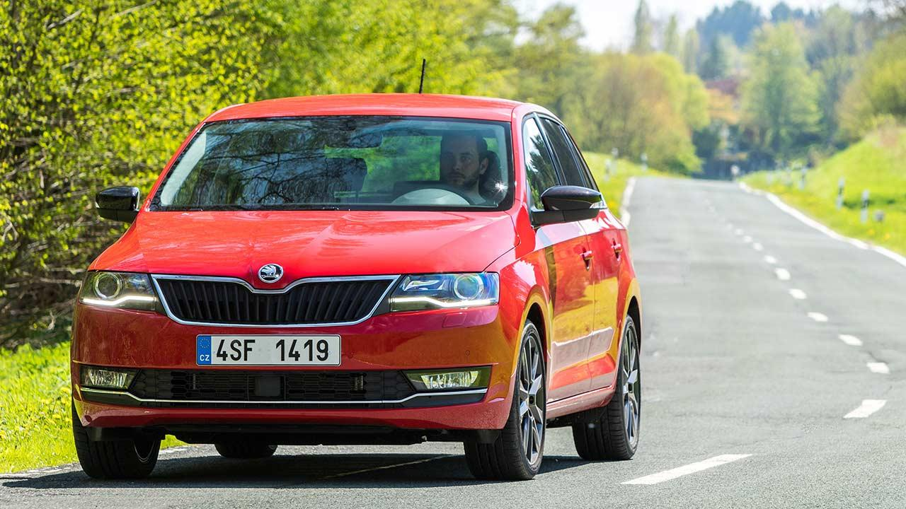 Skoda Rapid Spaceback - in voller Fahrt