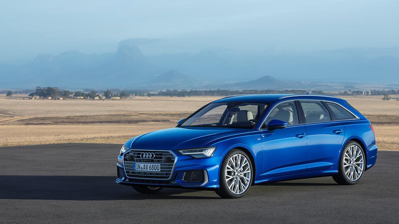 Audi A6 Avant 2018 - seitliche Frontansicht