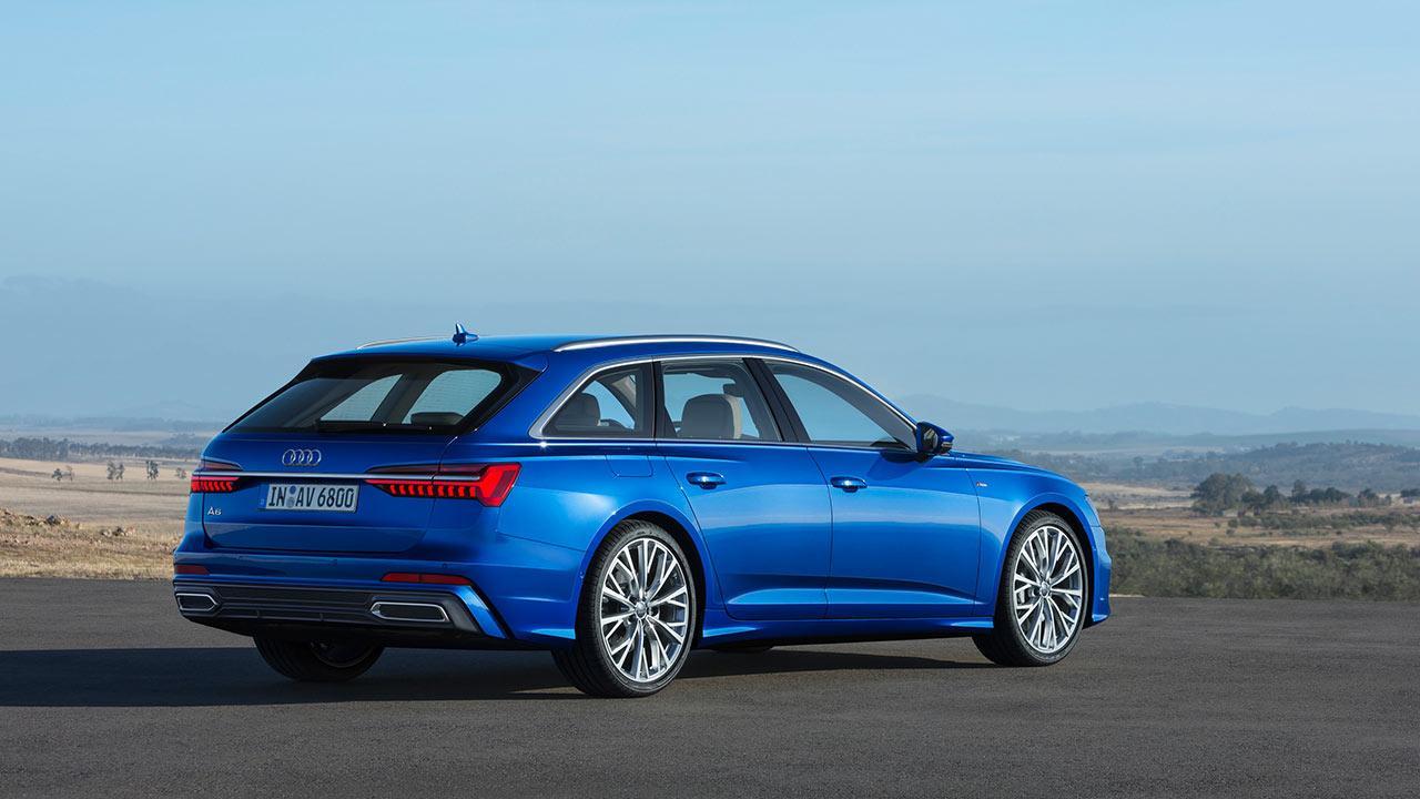 Audi A6 Avant 2018 - seitliche Heckansicht