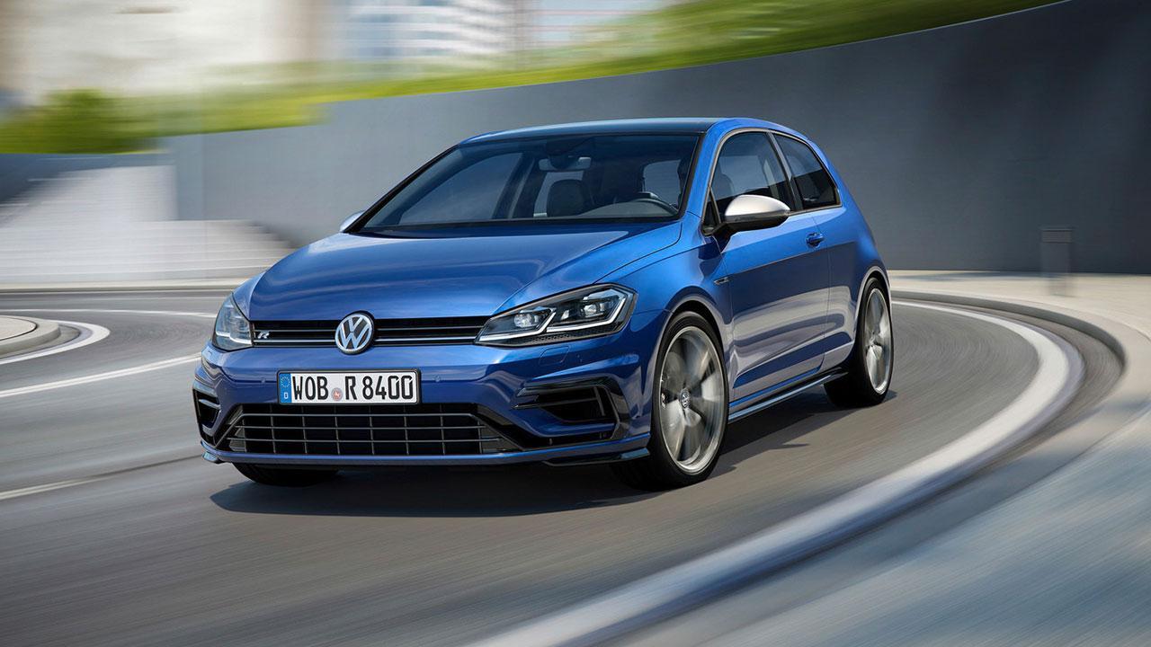 Volkswagen Golf VII R - in der Kurve
