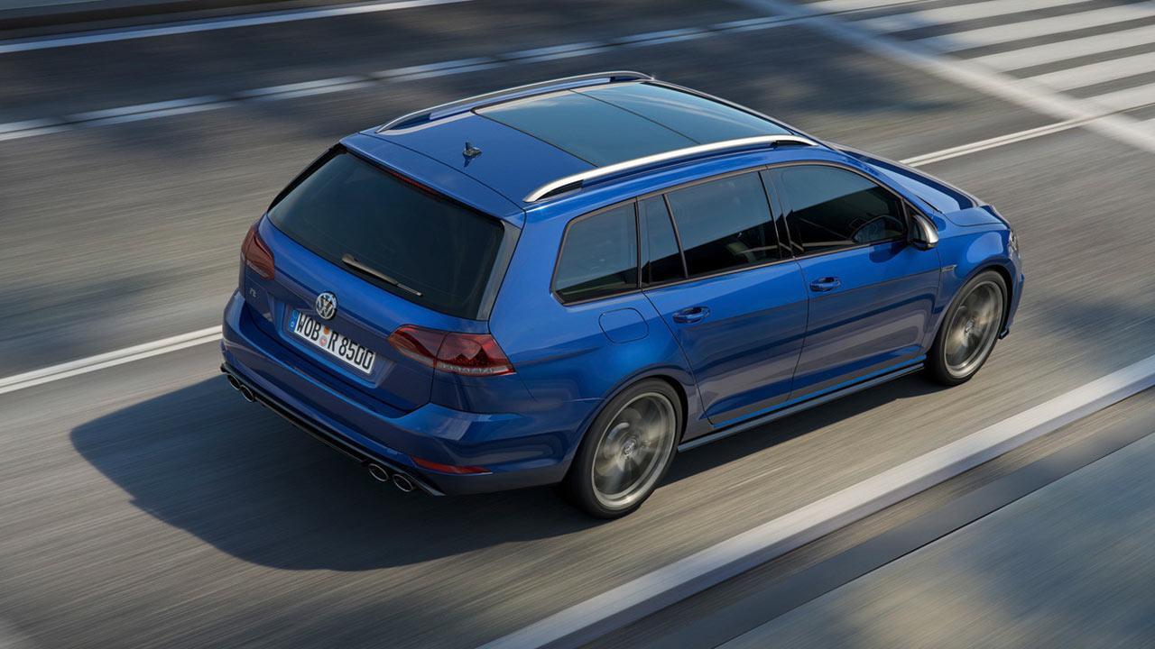 Volkswagen Golf VII R Variant - Vogelperspektive