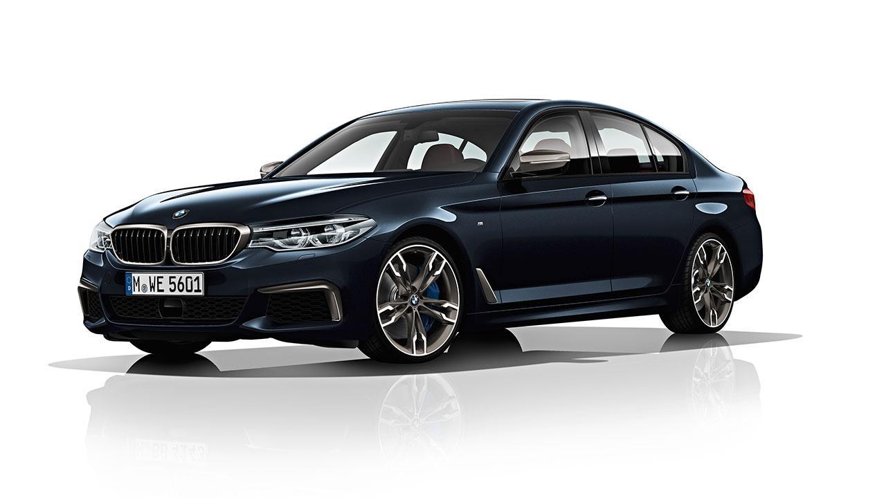 BMW M550d xDrive Limousine - seitliche Frontansicht