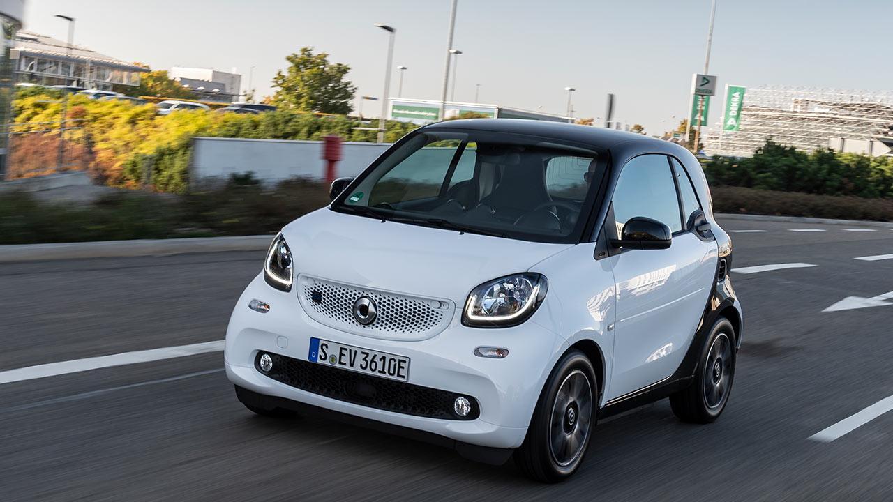 Smart EQ fortwo - in voller Fahrt
