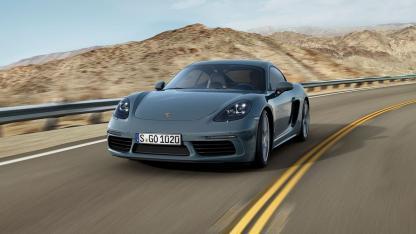 Porsche 718 Cayman - in voller Fahrt