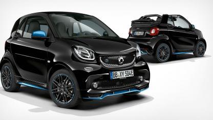 Smart EQ fortwo Cabrio - geschlossenes & offenes Verdeck