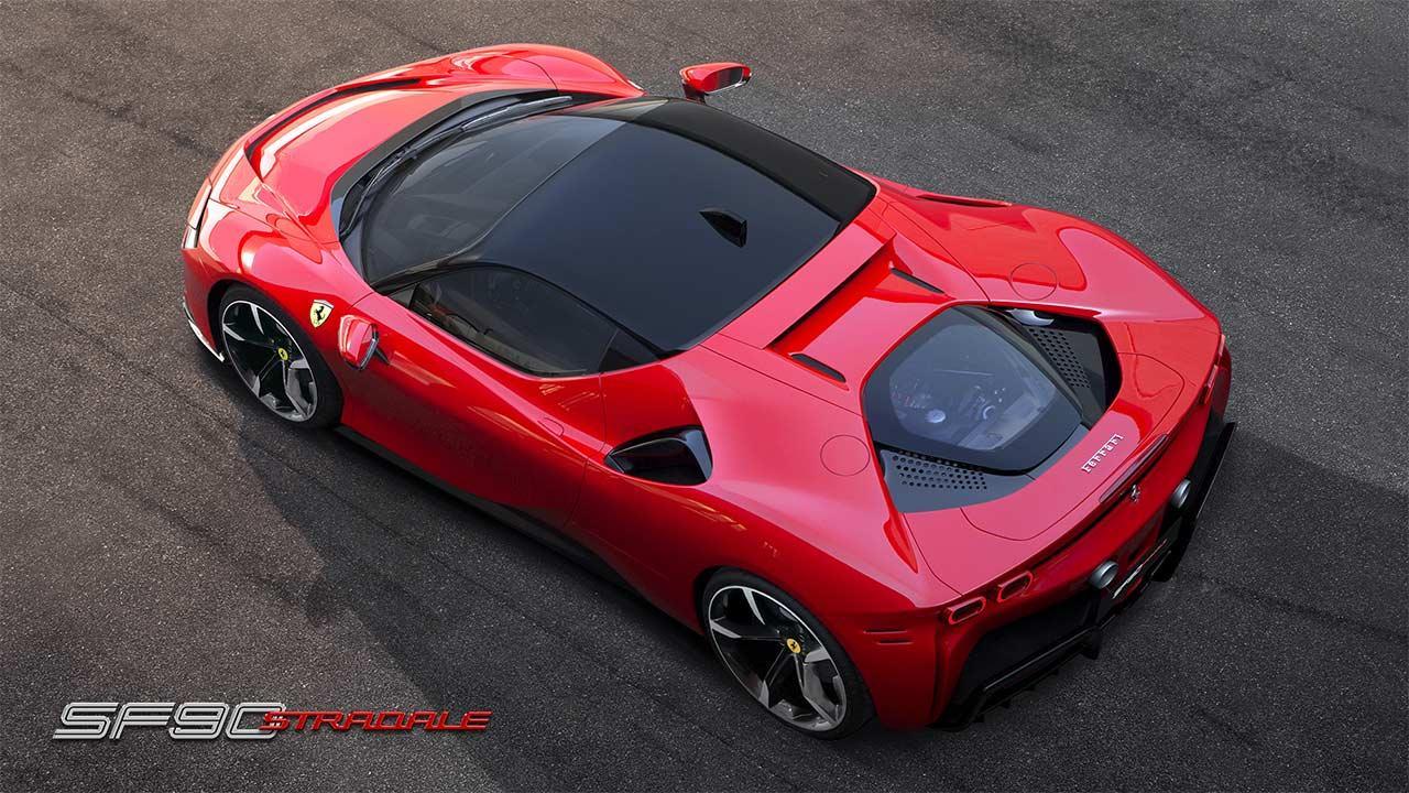 Ferrari SF90 Stradale - Vogelperspektive