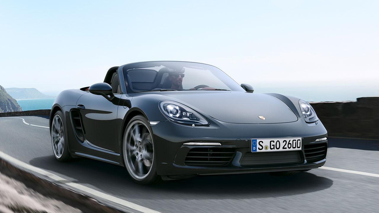 Porsche 718 Boxster - in voller Fahrt