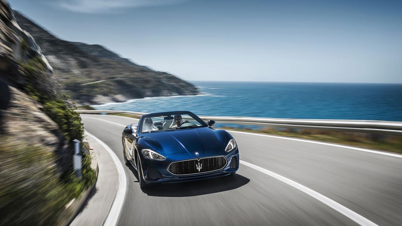 Maserati GranCabrio - Ausfahrt am Meer