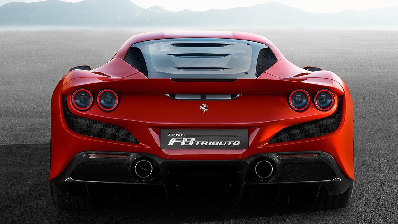 Ferrari F8 Tributo - Heckansicht